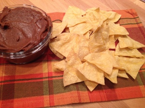 tortilla chips and bean dip